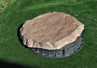 Декоративная крышка канализационного люка Плоский камень с рисунком