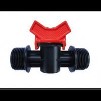 Кран с НР 1/2х3/4  для капельной трубки (SL 011-14)