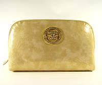 Косметичка женская кожаная Chanel  912 золотистая, расцветки в наличии