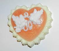 Сердце валентинка, мыло ручной работы. Подарок на 14 февраля.