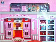 Домик для куклы My Happy Family муз свет мебель