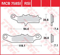 Колодки тормозные для мотоцикла / квадроцикла TRW / Lucas MCB758SI