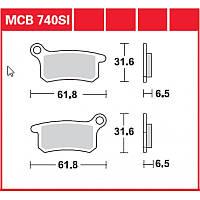 Тормозные колодки TRW / Lucas MCB740SI