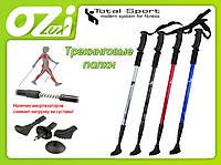 Трекинговые палки марки Total Sport черный цвет (пара 2шт.)