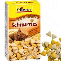 Gimpet Schurries (сердечки) витамины для кошек с таурином и курицей, 650 шт.