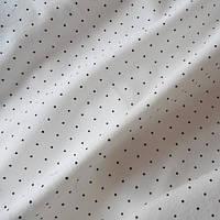 Трикотажное полотно кулир хб/эл пенье 40/1, коричневые точки на молочном