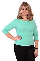 Трикотажные блузки ментол  48-54 , бл 168