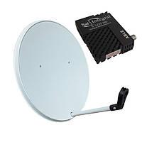 Комплект спутникового ТВ на 3 спутника для 1-го ТВ
