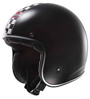Шлем открытый LS2 OF583 FLAGMAN BLACK WHITE размер S