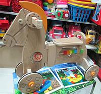 Каталка - лошадка деревянная (бук) ТМ Зеленая игрушка