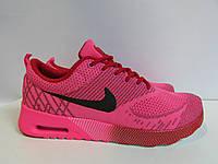 Кроссовки женские Nike Air Max (8036) ярко-розовые с черным код 965А