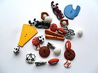 Набор декоративных спортивных пуговиц