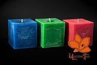 Свеча декоративная ароматическая квадрат 10*10см