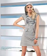 Модное летнее платье с капюшоном