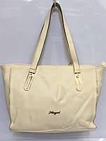Женская сумка Meyzi 637 классическая из кожзама бежевая Турция