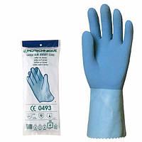 Перчатки латексные хозяйственные КЩС, голубые