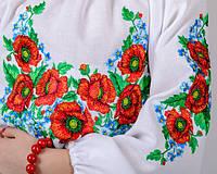 Вышиванка для девочки Маки и васильки.