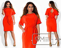 Модное деловое платье батал