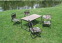 Стол раскладной для пикника + 4 стульчика в чехле