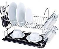Сушилка 2ух ярусная Empire 9788 для посуды 385*230*H357 мм