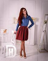 Рубашка джинсовая молодежная  блуза