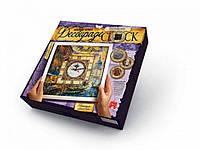 "Набор для творчества ""Часы"" Decoupage Clock с рамкой Danko Toys"