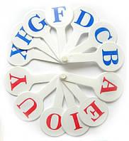 Веер букв, английский алфавит