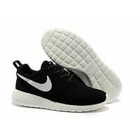 Подростковые кроссовки Nike Roshe Run черно-белые