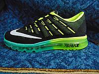 Мужские кроссовки NIKE Air Max 2016  черно-салатовые