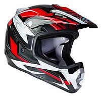 Шлем GEON 623 Кросс Vector Black-Red