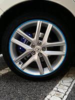 Защита литых дисков синего цвета R17-R18