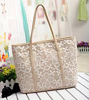 Нежная и привлекательная сумка-шоппер. Кружевная сумка. Недорогая сумка. Интернет магазин. PU кожа.Код: КЕ69-1