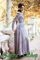 Платье  пол с гипюром из стрейч-шерсти
