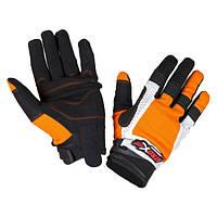 Мотоперчатки текстильные Atrox Gaz Black/Orange, M