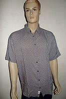 Летняя мужская рубашка из хлопка большого размера