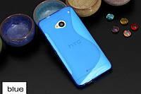 Силиконовый чехол Duotone для HTC One Dual Sim голубой