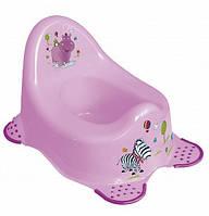 Детский горшок пластиковый Hippo фиолетовый 8648