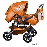 Универсальная коляска-трансформер Trans baby Яся (05/16) оранжевый+металик