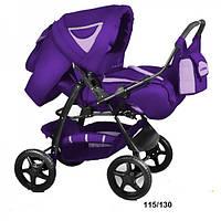 Универсальная коляска-трансформер Trans baby Яся (115/130) фиолет+сирень