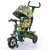 Велосипед трехколесный TILLY Trike T-351-8 темно зеленый с надувными колесами