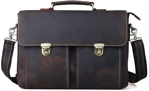 """Кожаный деловой портфель Tiding для ноутбука 14"""" t1119"""