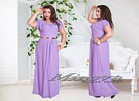 Длинное шифоновое платье с короткими рукавами Размеры 50,52,54,56