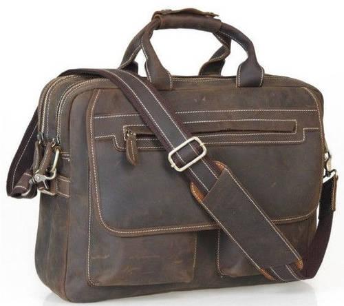 """Практичный кожаный портфель Tiding для ноутбука 14,1"""" t29523"""