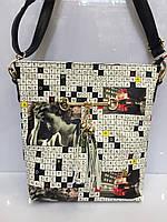 Женская сумка клатч Meyzi 766 с принтом на каждый день Турция