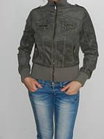 Короткая куртка ветровка женская демисезонная серая Water&Fish 60601 размер S,L,XL,XXL