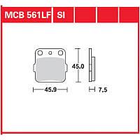 Комплект тормозных колодок TRW / Lucas MCB561SI