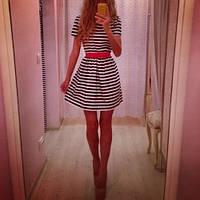 Женское платье полосатое