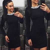 Женское Красивое платье с дорогой фурнитурой