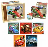 Развивающая настольная игра Кубики деревянные Машинки Nova 7413