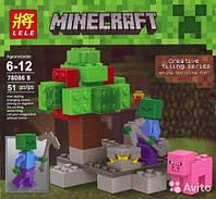 """Конструктор Lele Minecraft 78086 В """"Защитник животных"""" , 51 дет"""